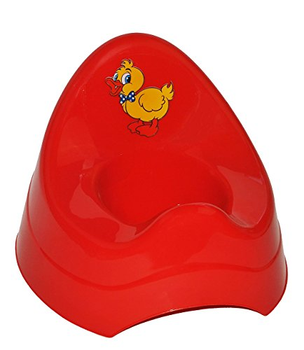 Unbekannt Töpfchen / Nachttopf - groß - mit großer Lehne + Spritzschutz - rote Ente - Babytöpfchen / Kindertopf / Lerntöpfchen - Toilettentrainer Klositz WC Sitz Toilet..
