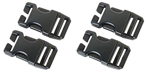 AceCamp Duraflex Schnell-Steckverschluss Set 4 x 25mm, schwarz, Klickverschluss, Klippverschluss, Steckschließer, Steckschnalle, Ersatzschnalle, Doppelpack, 7044