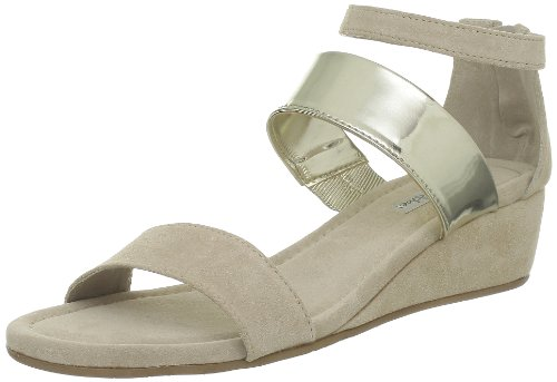 Tosca Blu Shoes - Sandali Ss1303S044, Donna, Beige (C04O Sabbia/Oro), 39