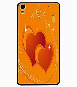 ColourCraft Loving Hearts Design Back Case Cover for LENOVO K3 NOTE