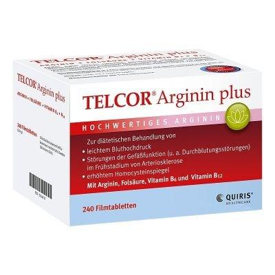 Telcor Arginin plus Filmt 240 stk