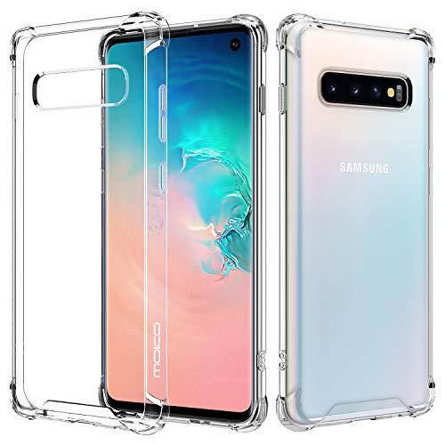 MoKo Angepasst für Galaxy S10 Hülle, Kristall Durchsichtig Serie Ultra Slim TPU Handy Schutzhülle Schale Silikon Perfekt für Galaxy S10 6.1