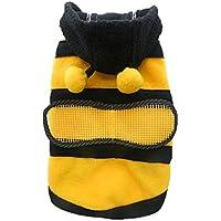 Sudadera con capucha ropa de mascota Perro Gato caliente escudo cachorro Apparel Cute Fancy disfraz de abeja