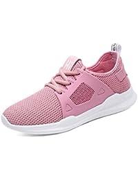 GTVERNH Zapatos de Mujer/Zapatos Casuales De Fondo Plano Verano Trotar Estudiante Net Transpirable Zapatillas...