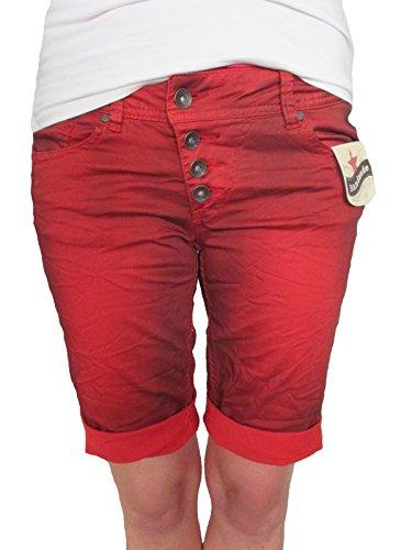 Buena Vista Damen Stretch Jeans Shorts Bermuda Krempelhose Malibu red Twill XS (Damen-stretch-twill-bermuda)