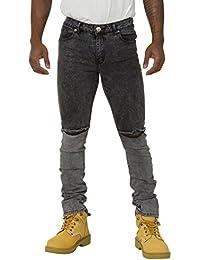 Jeans Homme Slim Fit avec déchirures aux genoux Fini stretch pour plus de confort FRED