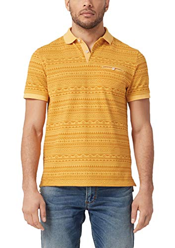 s.Oliver Herren 13.904.35.6485 Poloshirt, Gelb (Yellow Friend 14a0), Large (Herstellergröße: L) -