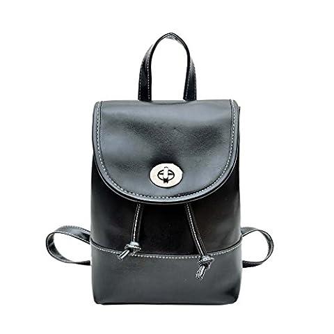 Women Girls PU Leather Backpack, WITERY Womens Girls PU Leather Simplicity Casual Travel Backpack / Pretty Fashion School Bag Daypack / Shoulder Bag Rucksack / Portable Handbag
