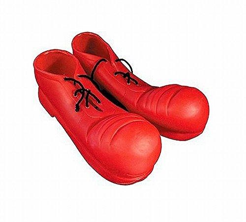 Clownschuhe rot - Universalgröße für (Kinder Clown Übergroße Schuhe)