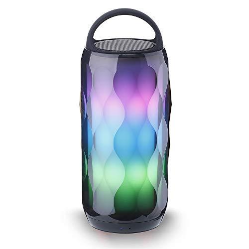 Haut Parleur Bluetooth Enceinte Lumineuse Portable - Enceinte sans Fil LED Bluetooth 4.2 Stéréo Speaker SoundBox - 10h 2000mA Musique avec Les Lumières pour Smartephone PC iPhone Android