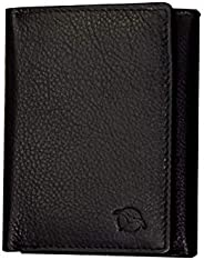 Flying Fossil Genuine Leather Hand-Crafted Trifold Wallet with RFID Protection, Quick Access Slot, Ultra Slim