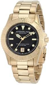 Stuhrling Men's 42mm Gold Steel Bracelet & Case Quartz Date Watch 1161.333369