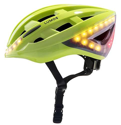 Lumos Fahrradhelm mit Blinker und integriertem Bremslicht, Farbe Lime