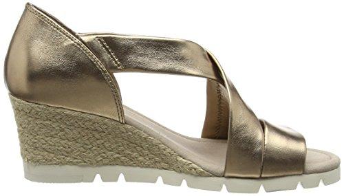 GaborLisette - Sandali con zeppa Donna Oro (Gold Metallic Leather (Jute))