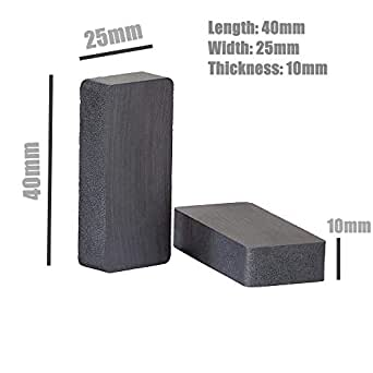 N3Powr Ferrite Block Magnet Size 40mm X 25mm X 10mm or 40x25x10 or 40 * 25 * 10 mm (Pack of 10 pieces)
