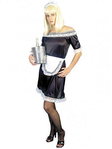 n Ooh La La French Maid Kostüm, schwarz/weiß, Medium - UK Size 12-14 (Naughty Maid Kostüme)