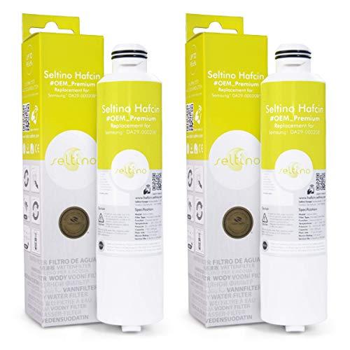 2x Seltino HAFCIN - kompatibler Wasserfilter für Samsung Kühlschränke, ersetzt DA29-00020B, HAFCIN/EXP, DA99-02131B, HAF-CIN/EXP
