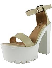 Loudlook Nouveau Femmes Dames Cheville Platform Bretelles Boucles Crampons Chaussures ? Talons Hauts Sandales 3-8