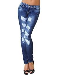 Generic - Jeans - Slim - Femme bleu bleu XS