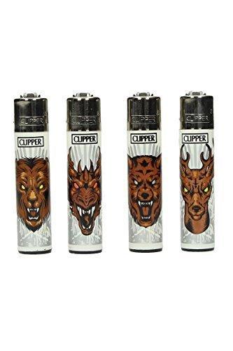 Clipper Classic Iron Animals 5 Stück Feuerzeug verschiedene Motive