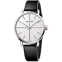 Calvin Klein Reloj Analógico-Digital para Unisex Adultos de Cuarzo con Correa en Cuero K7B211CY
