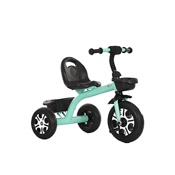 LRHD Children's Tricycle, Children's Tricycle, Stroller, Tricycle, Tricycle Pedal Bicycle, Boys and Girls Aged 2-3-4-5 Years Old, Indoor and Outdoor, with Storage Boxes, Boys and Girls Riding Toys LRHD 1. [Perfect Growth Partner]: Tricycle is suitable for children aged 2-6. Let this tricycle grow up with your children. 2. [Adjustable Seat]: The tricycle seat can be adjusted in front and rear gears, so the baby does not need to change cars when growing up, and it is suitable for children of different height stages. 3. [Humanized Design] These cleverly designed tricycles and tricycles have many features your children will like! With one basket at the front and one basket at the back, your children can take their favorite toys along the way! 1