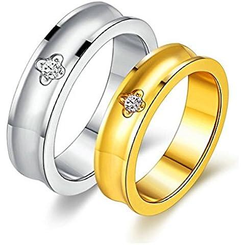 Bishilin Acciaio Inossidabile Placcato Oro 5MM Matrimonio Coppia Anelli Fidanzamento per Uomo e Donna (Oro Celtica Claddagh Croce)