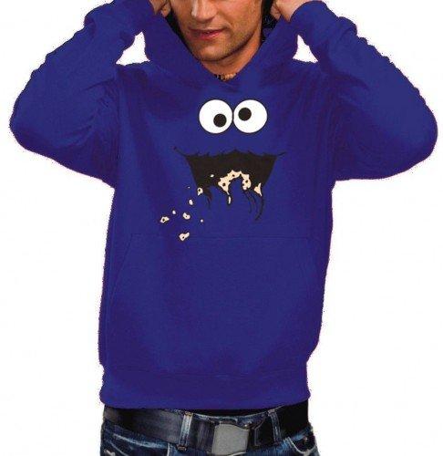 COOKIE MONSTER HOODIE Sweatshirt mit Kapuze blau, (Cookie Monster Hoodie)
