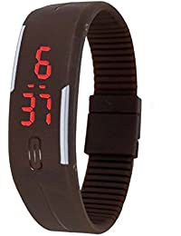 Xurious Enterprise Presents Brown Color Unisex Silicone Digital LED Band Wrist Watch For Boys, Girls, Men, Women