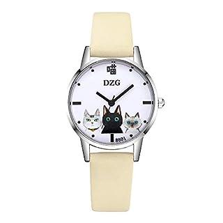 Artistic9 Women's Wrist Watch Digital Dial Quartz Watch with Leather Band Casual Fashion Ladies Wristwatch (Beige)