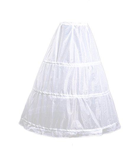 Wecharm Damen Weiss Petticoat Reifrock Unterrock Fuer Abendkleider Ballkleider Promkleider...