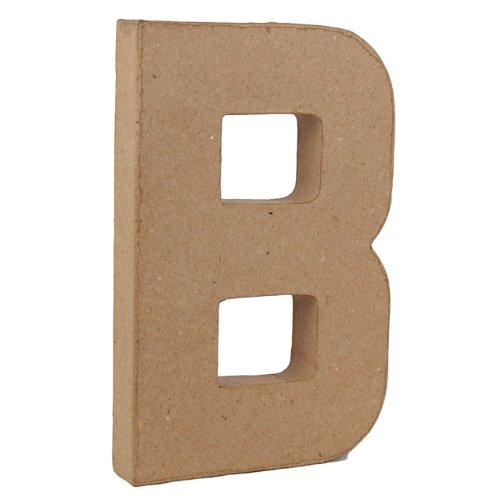 Pappmaché-Dekoelement 3D Buchstabe B 20,5cm Pappmaché (Buchstabe B Craft)