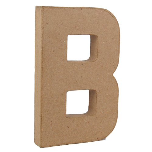 Country Love Crafts Pappmaché-Dekoelement 3D Buchstabe B 20,5cm Pappmaché -