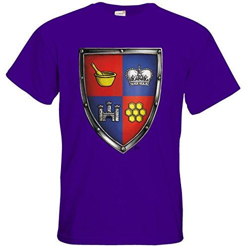 getshirts - Das Schwarze Auge - T-Shirt - Die Siebenwindküste - Wappen - Honingen Purple