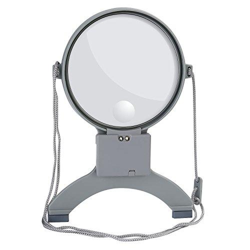 NONMON Lupa Iluminada con LED Luz 2X 4X lente con Cuerda para Cuello Manos Libres para Lectura Reparaciones Coser Artesanías Joyería Relojería