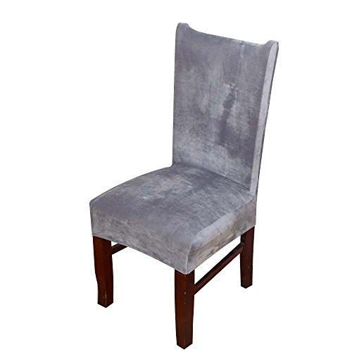 Lingjun morbido moderna coprisedia vesti sedia elasticizzato antimacchia copertura della sedia decorazione protezione mobili per matrimonio hotel sala wedding banquet (gregge)