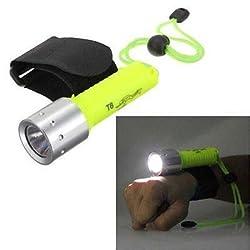 takestop® TORCIA SUBACQUEA IMPERMEABILE LED 200-800 LUMEN CREE SUB LUC...