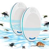 Ultraschall Schädlingsbekämpfer Mückenabwehr Mäusevertreiber Pest Repeller Control - Elektronisches Insektenschutzmittel - Haustierfreundlich Vertreiber gegen Nagetieren, Insekten-2PCS
