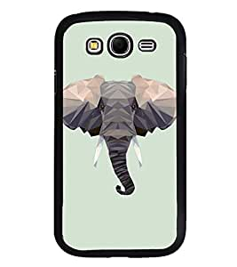 Fuson Premium 2D Back Case Cover Designed Elephant Head With Brown Background Degined For Samsung Galaxy Grand Neo::Samsung Galaxy Grand Neo i9060