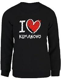 Idakoos I love Kumanovo chalk style - Hauptstädte - Damen Sweatshirt