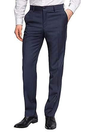 ESPRIT Collection Herren Anzughose Regular Fit, Gr. 46 (S), Blau (dark navy 420)