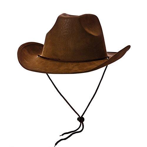 Cowboy Hat - Super Deluxe Brown Suede Fancy dress accessory