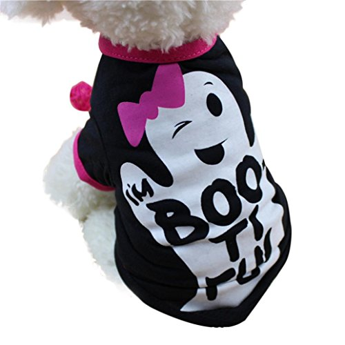Dog Mail E Kostüm Tägliche - LHWY Halloween PET Kostüm Hund Kurze Ärmel Conjoined Rock Cute Dog Bluse Top Shirts Hund (S, Schwarz)