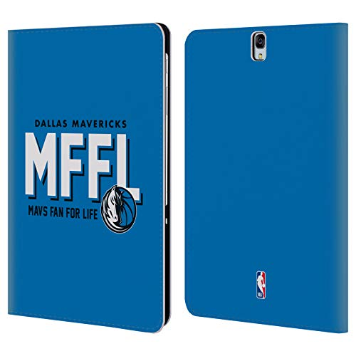 Head Case Designs Offizielle NBA Mavericks Mavs Fan for Life 2018/19 Team Slogan Brieftasche Handyhülle aus Leder für Samsung Galaxy Tab S3 9.7 Galaxy Case Fan
