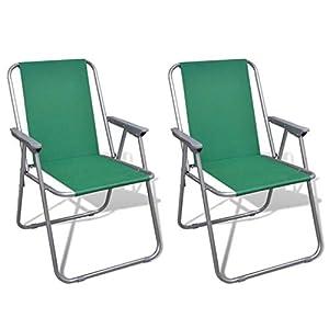 FZYHFA Klappstühle, Grün, für Camping im Freien, 52 x 59 x 80 cm (B x T x H)