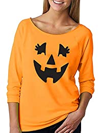 Preisvergleich für Elsta Damen Mode Sweatshirt Halloween Drucken Kürbis Pullover Hemden Tunika T-shirt Hooded Basic Shirts Top Elegant...