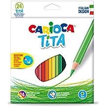 Carioca - Caja de 24 lápices de colores Tita-hexagonal (42794)