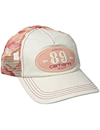 Carhartt Womens Malden Cap - Burnt Coral Ladies Camo Mesh Back Peak Hat CHW101995847