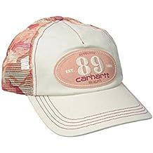 Carhartt Womens Malden Cap - Burnt Coral-One Size Ladies Camo Mesh Back Peak Hat CHW101995847-One Size