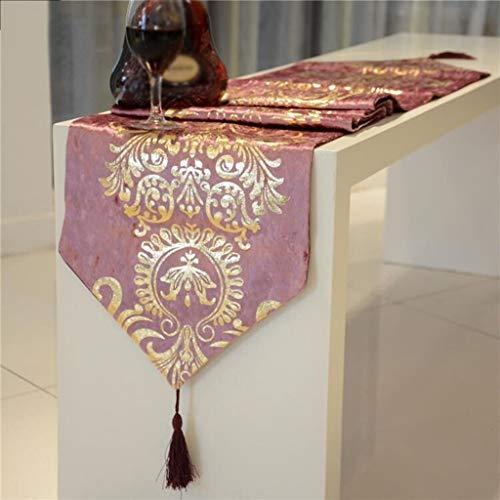 Nvfshreu Barock Europäische New Klassische Bronzing Tischläufer Tischtuch Tee Einfacher Stil...